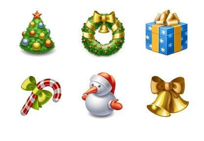Xmas Icons 96x96 (6 PNG ICO File) png