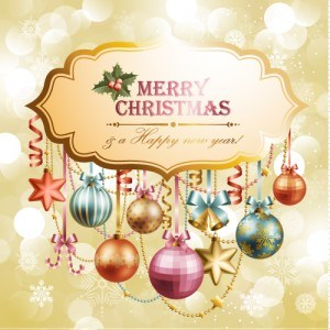 Christmas elements background material 01
