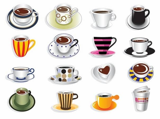 Coffee Cup Sets [EPS File] png