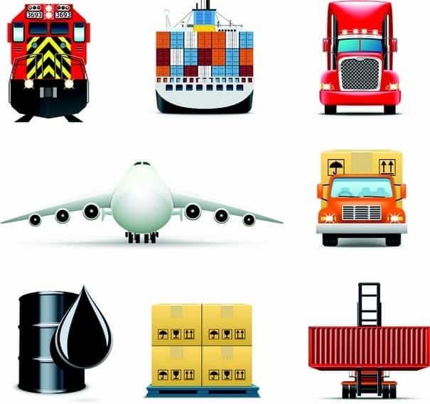 delicate cargo icon vectors