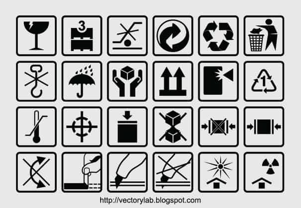 Packaging Box Symbols png