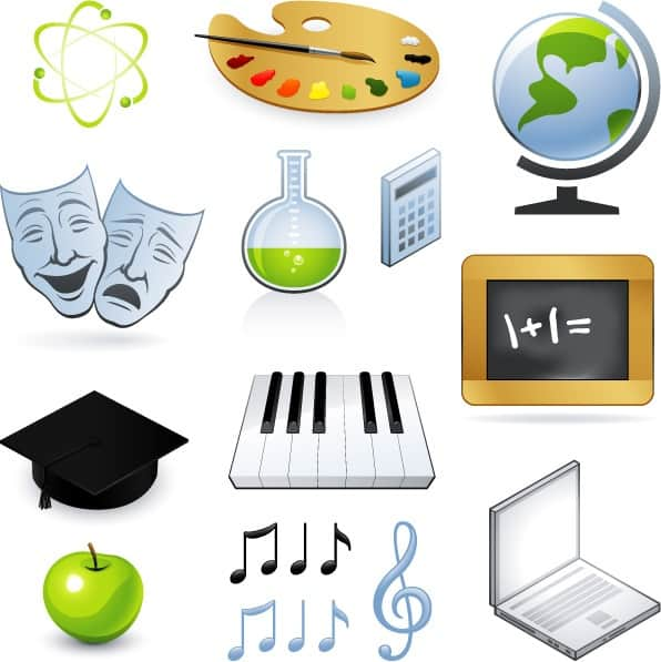 Teaching Icons Vectors 01 png