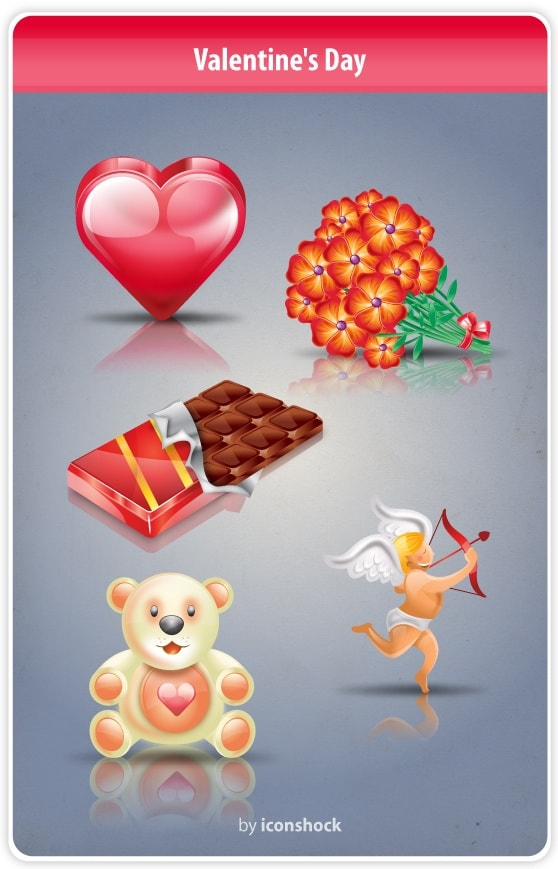 Valentines Day Icon Set [512x512 PNG File] png