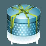 blue-round-gift-box