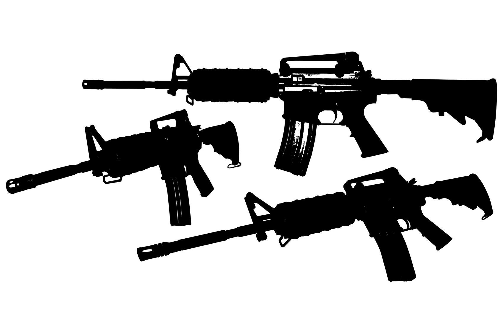 M4 Rifle Vector png