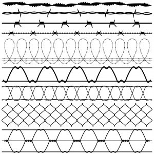 black-white-barbed-wires