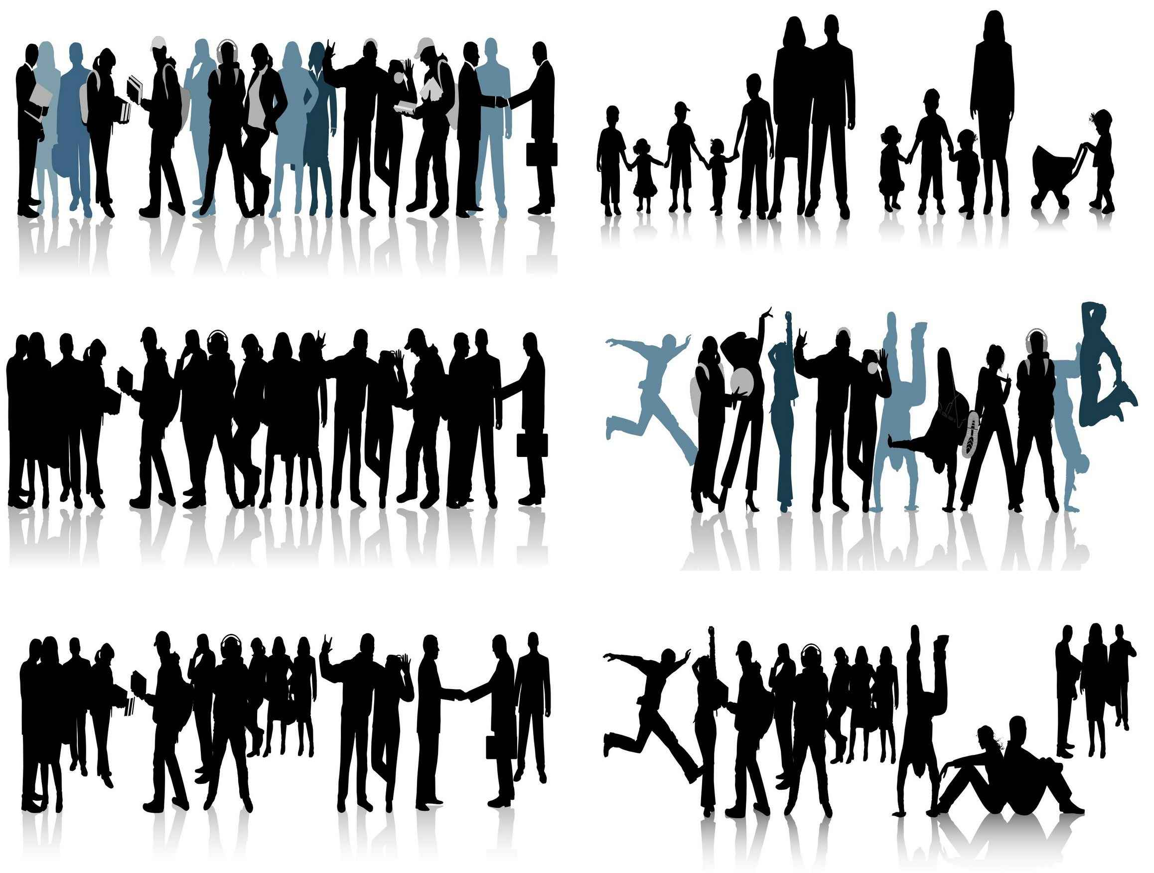 People Silhouette Vector Pack png