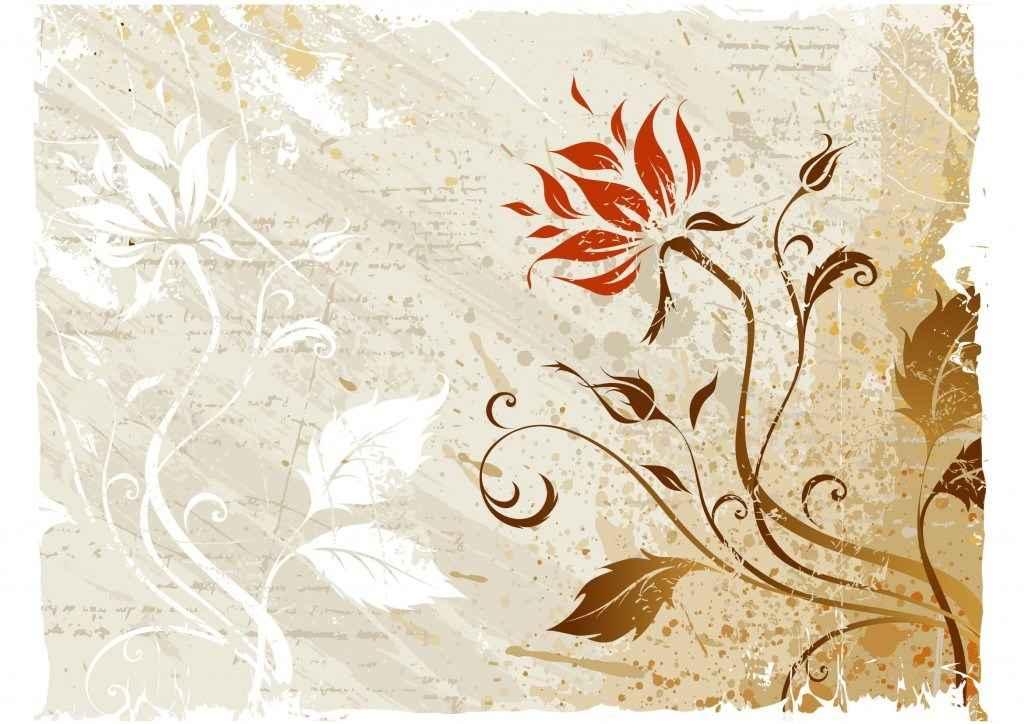 Vector Grunge Floral