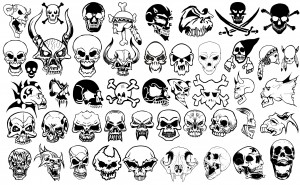 Skull and Crossbones Silhouettes