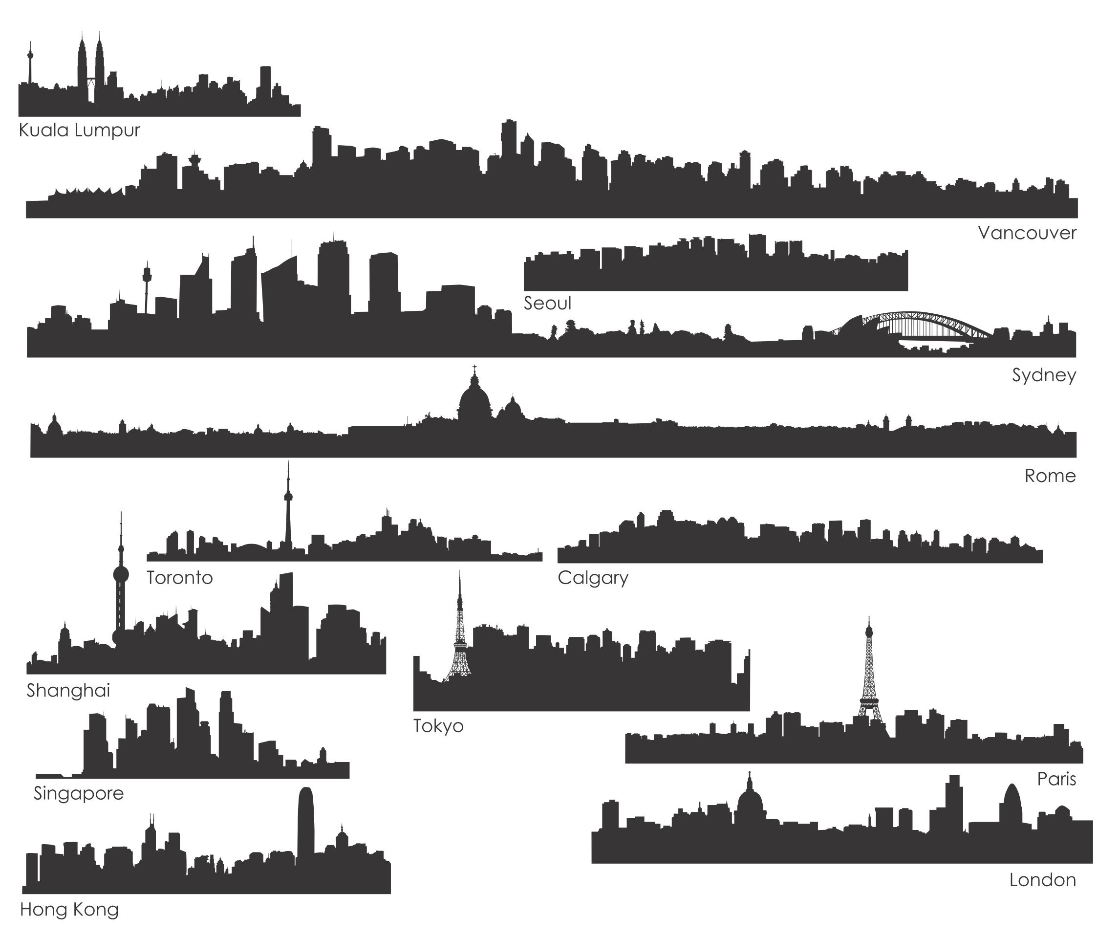 The World's Urban Silhouette png