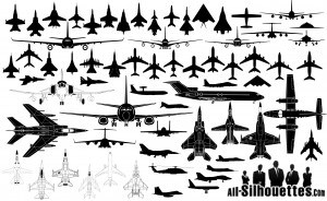 aircraft-airplanes-silhouettes