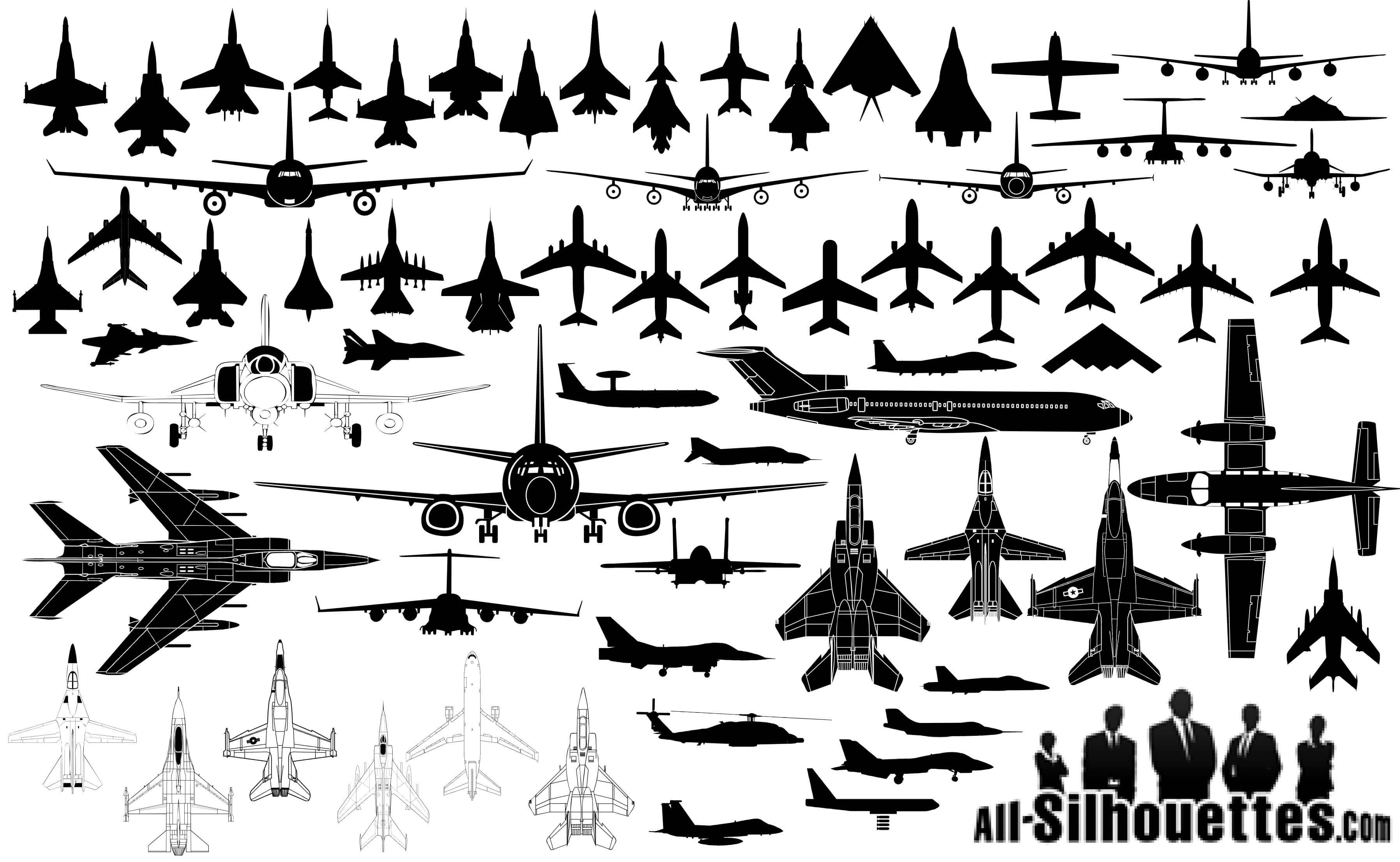 Airplane Silhouette   Aircraft png