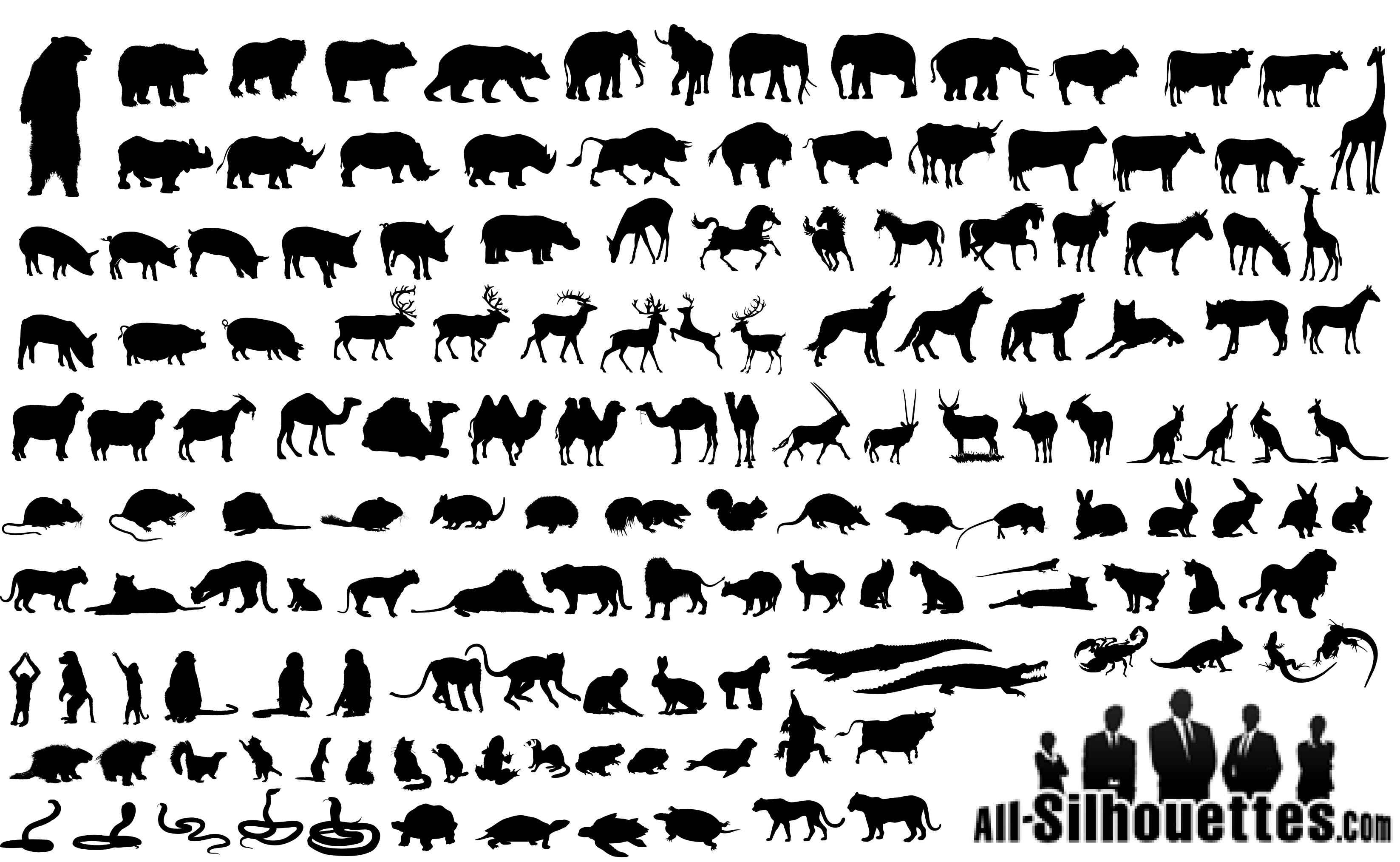 Animals Silhouettes png
