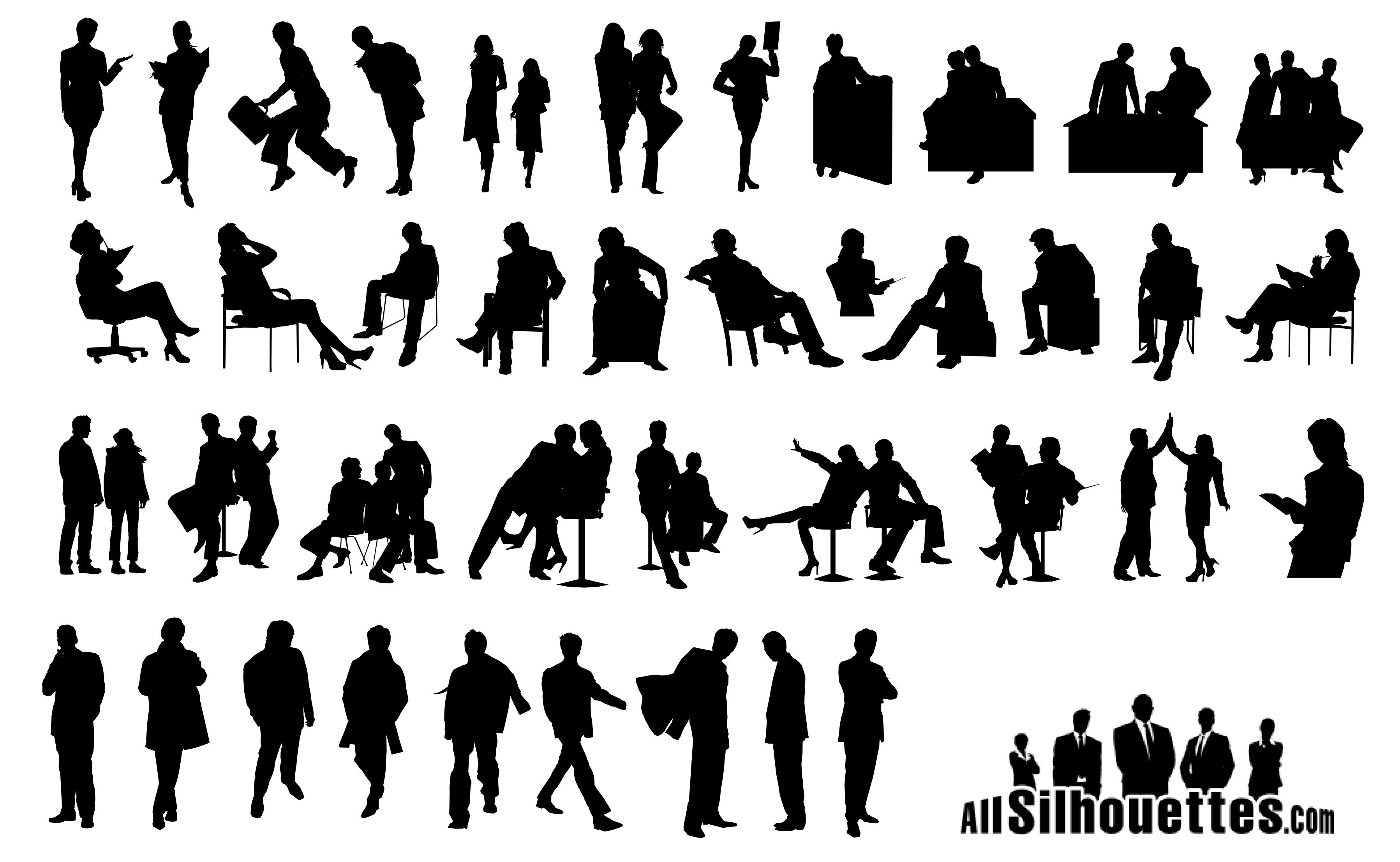 Business People Silhouettes Vector EPS Free Download, Logo, Icons ... for Business People Silhouette Png  131fsj