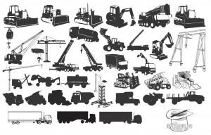 Transport, Construction Silhouette