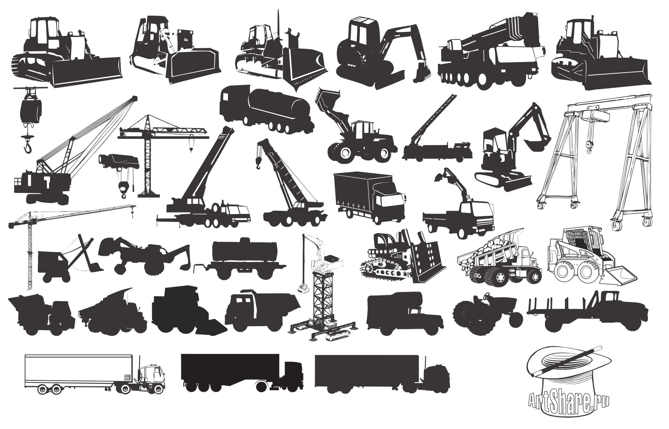 Transport, Construction Silhouette png