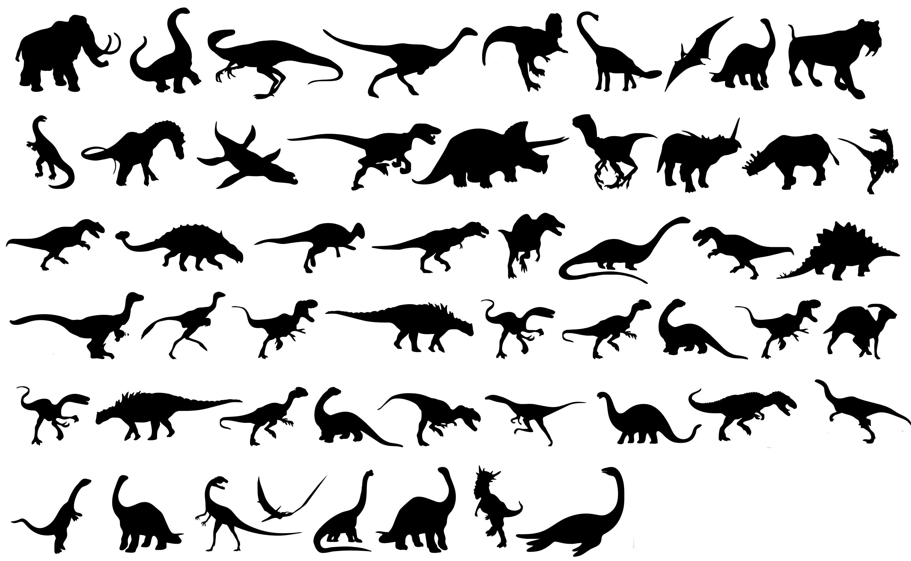 Dinosaurs Silhouettes png