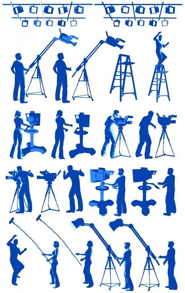Film Maker and working staff png