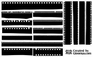 Film Strip Silhouettes [EPS File]