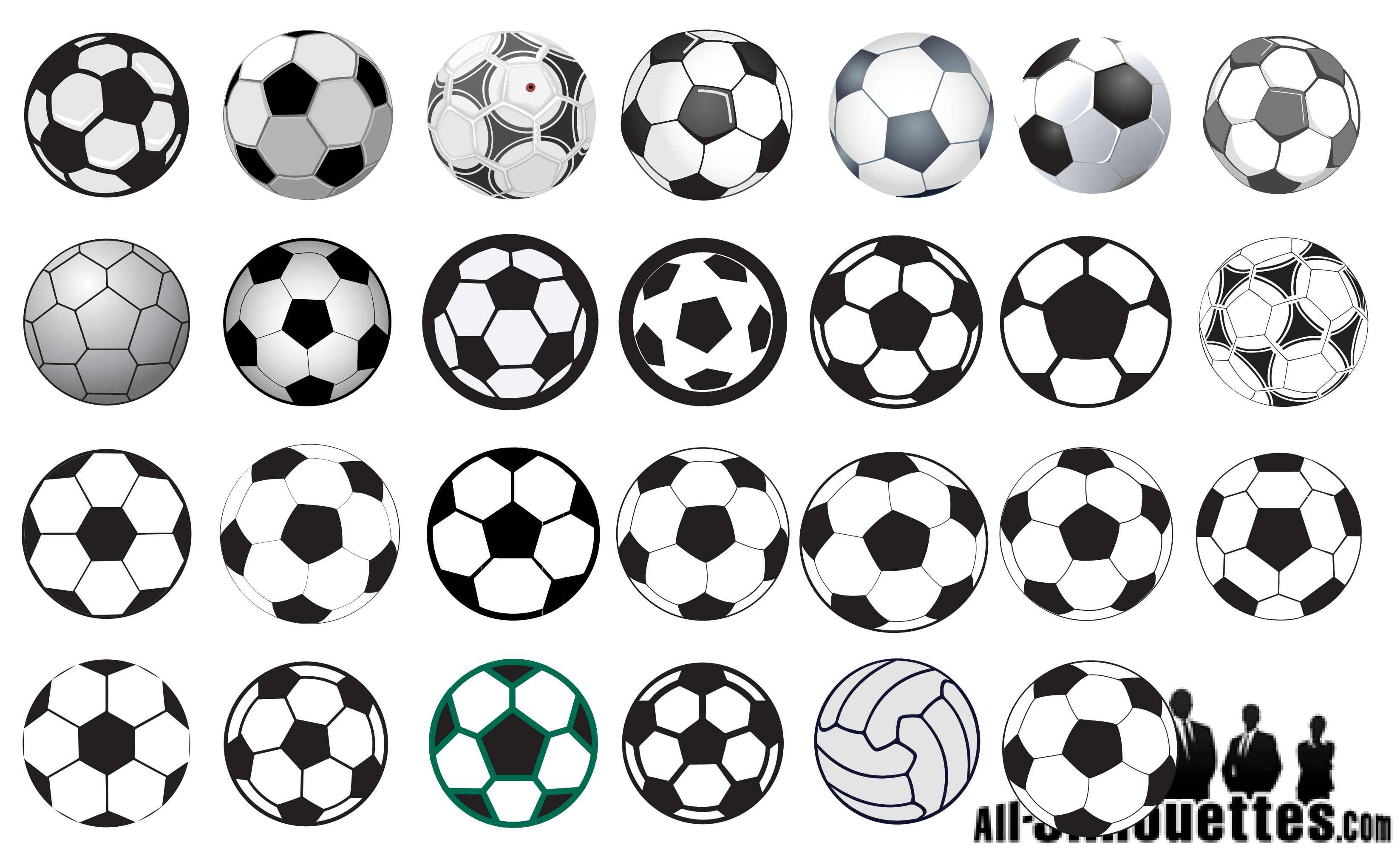 Soccer Ball Silhouettes png