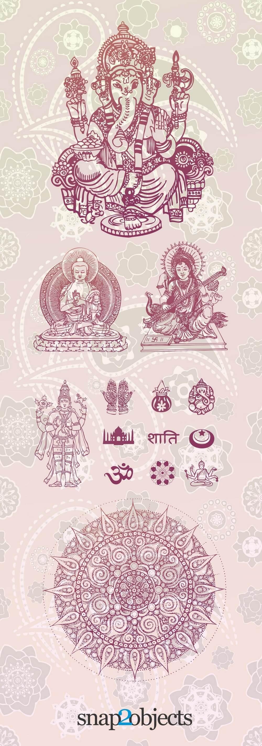 Free Vector Hindu Elements png