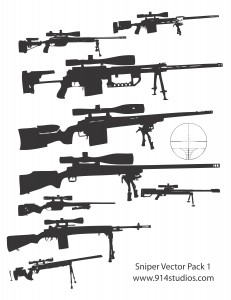 Gun Vector Sniper Rifle Pack png