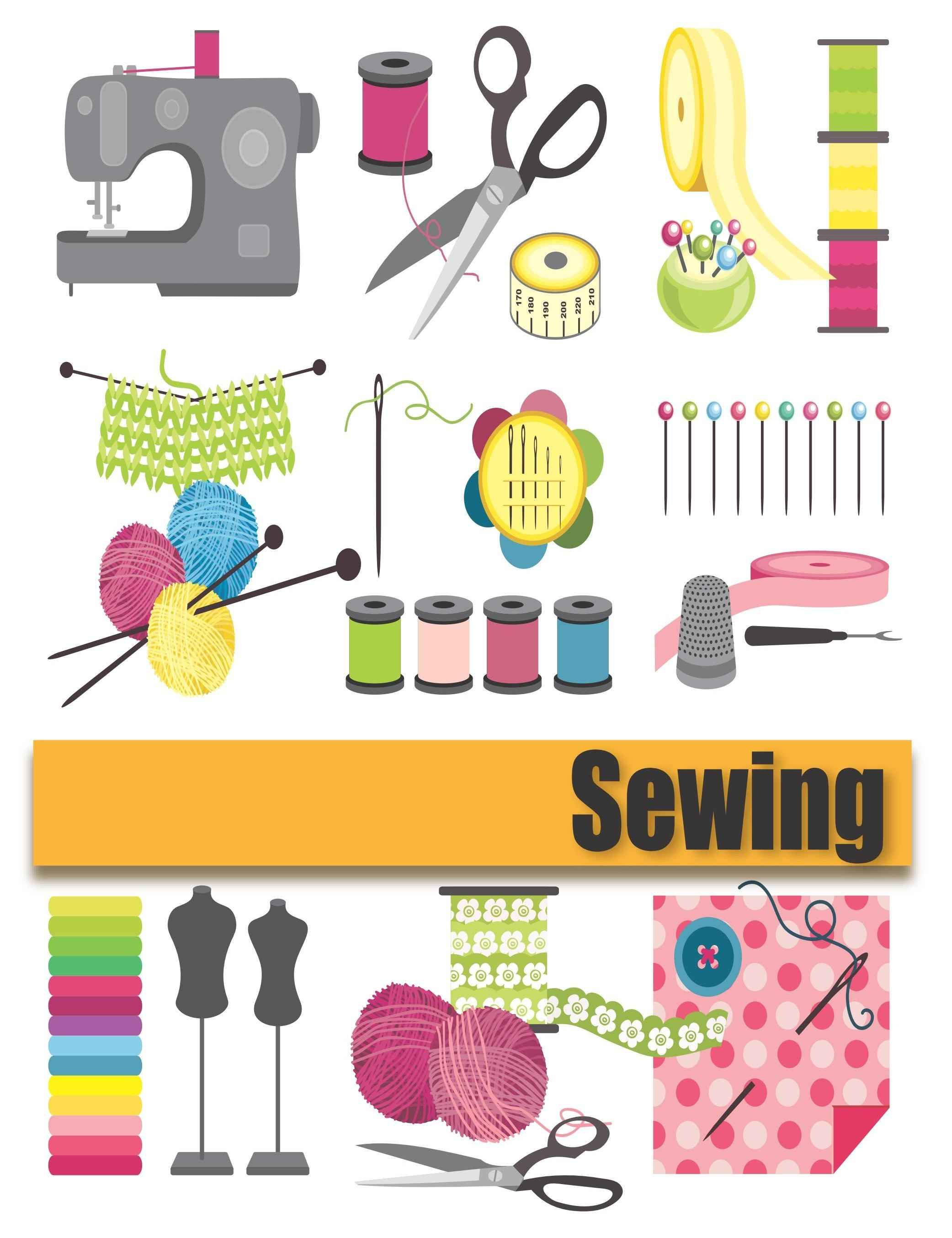 Needlework vector material png