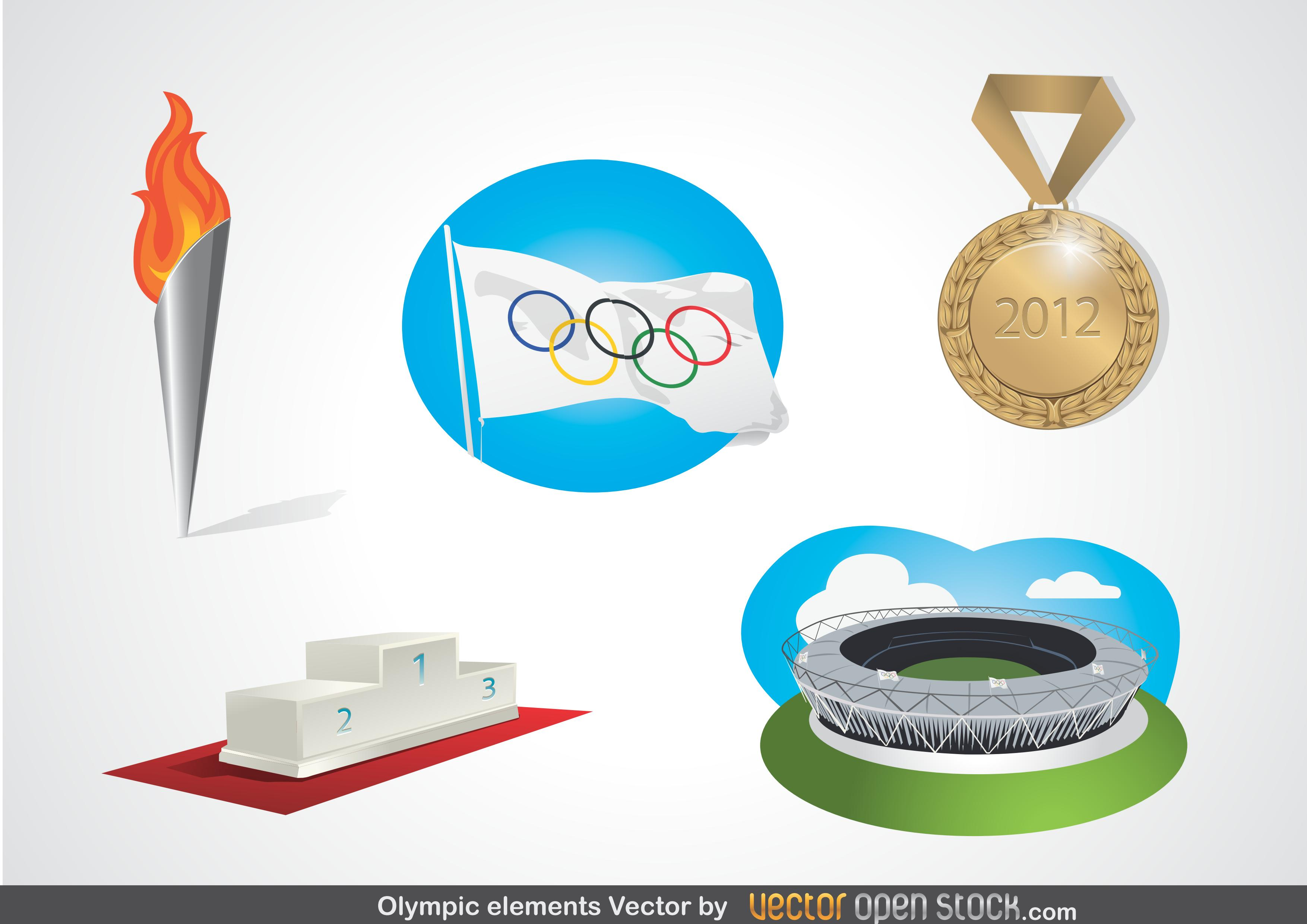 Olympic Elements Vector [EPS File] png
