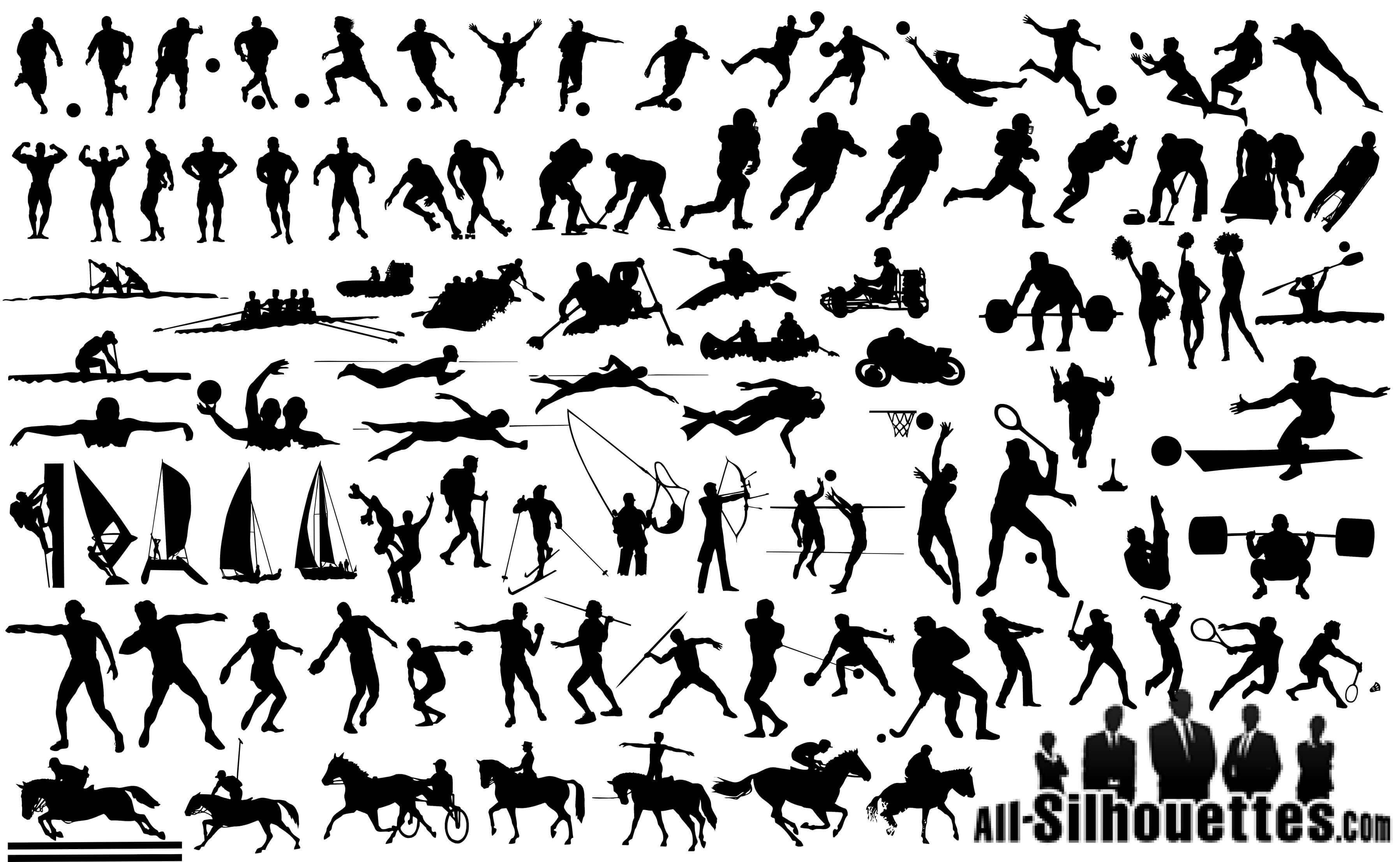 Sportsmen Silhouettes png
