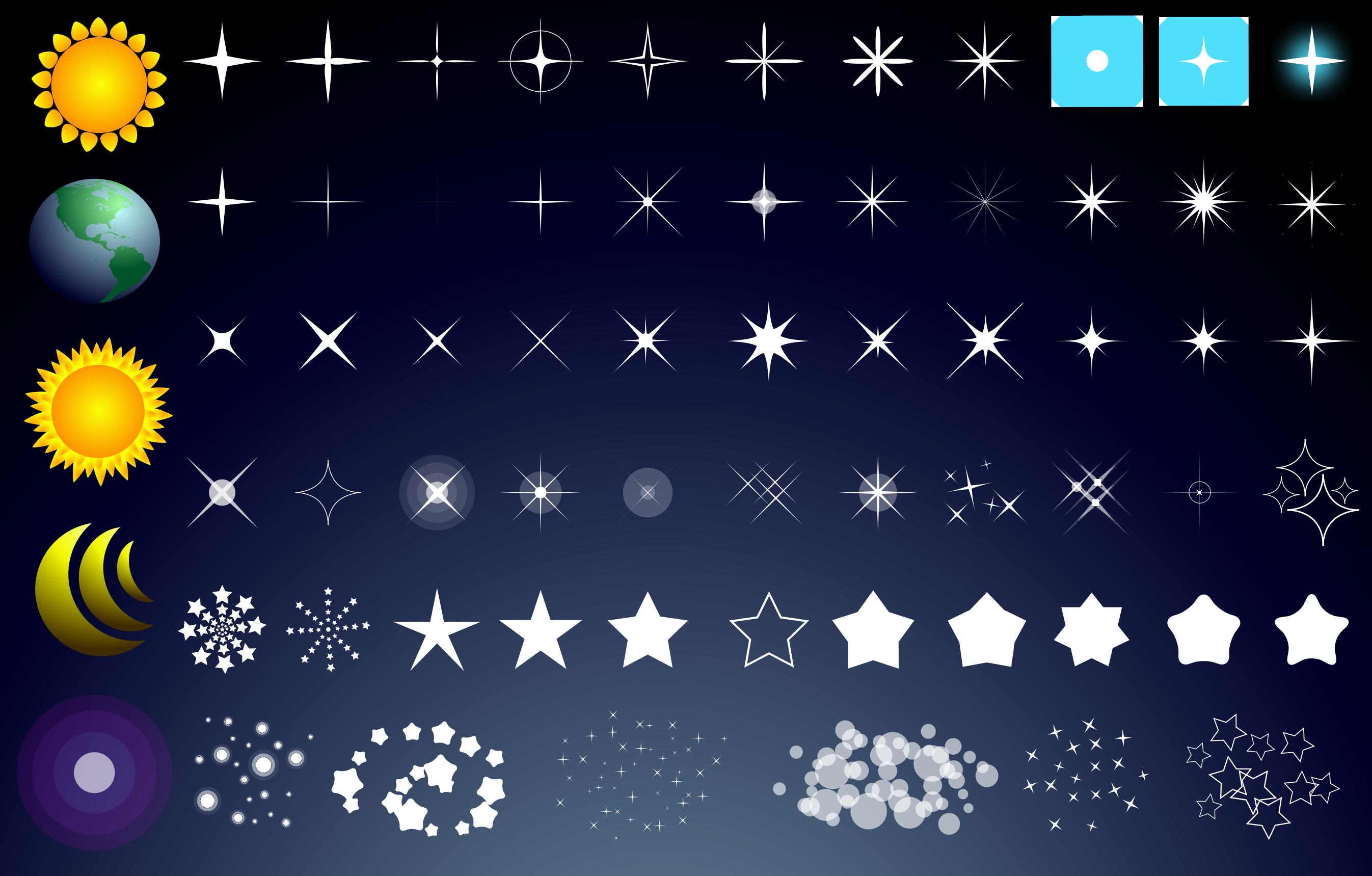Stars Vector Pack png