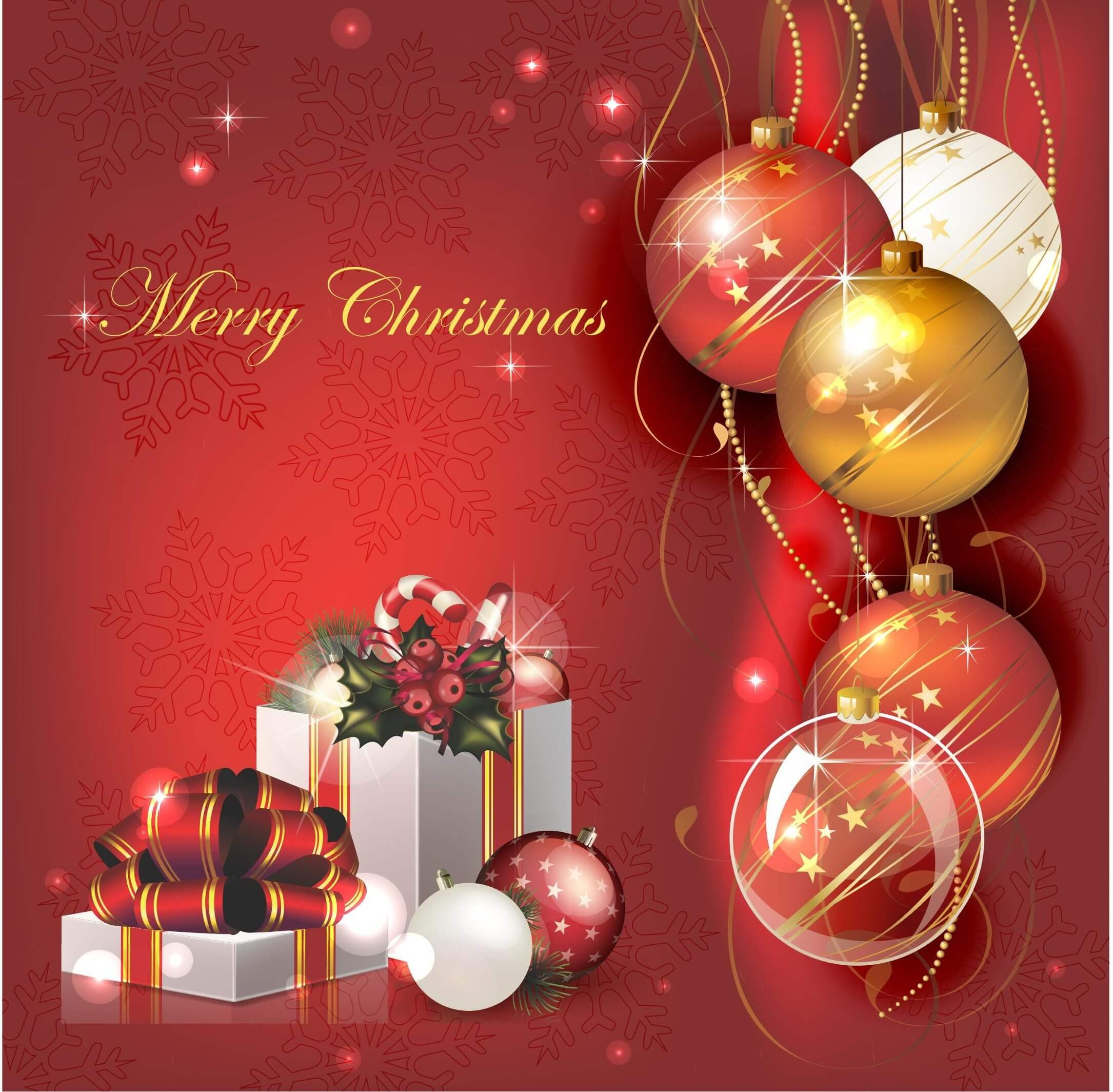 Christmas Vector Background 01