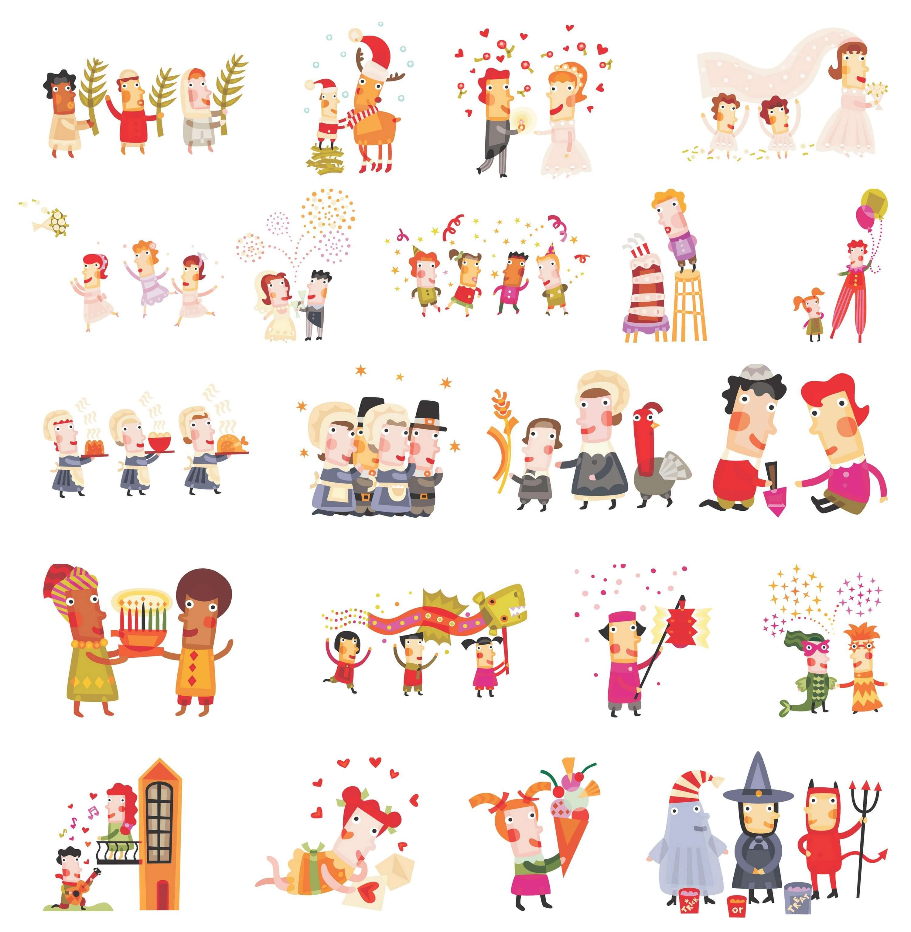 Cute Christmas Characters 01 png