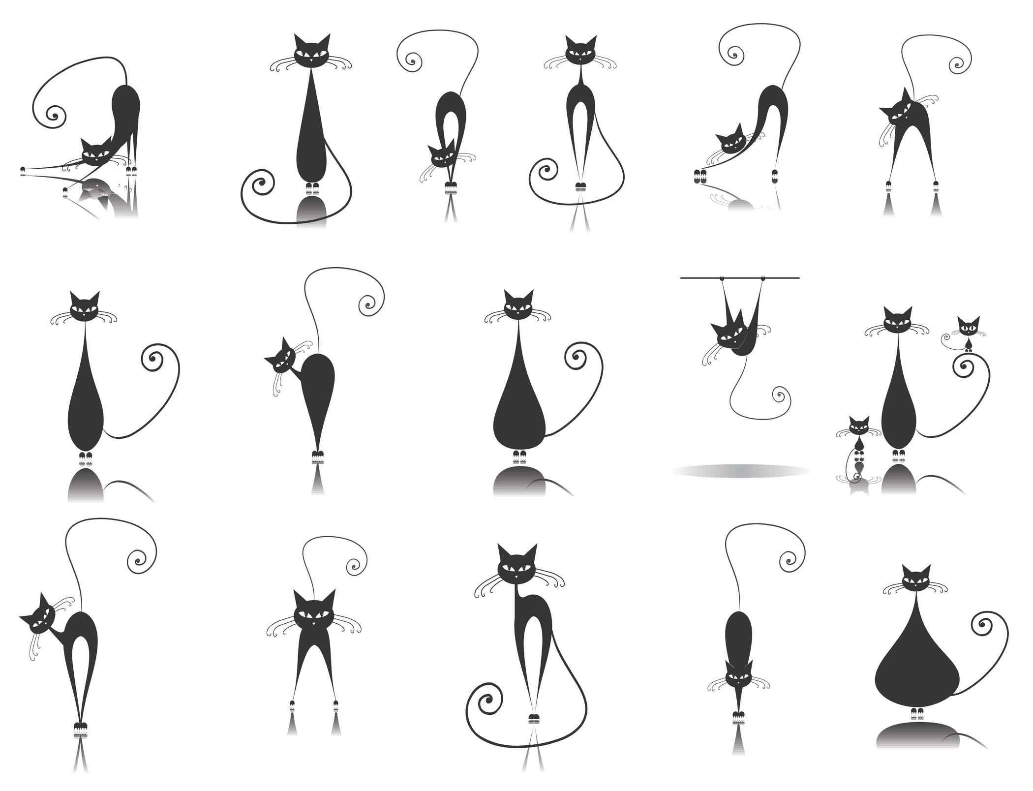 Cute cartoon animals [Cats] png