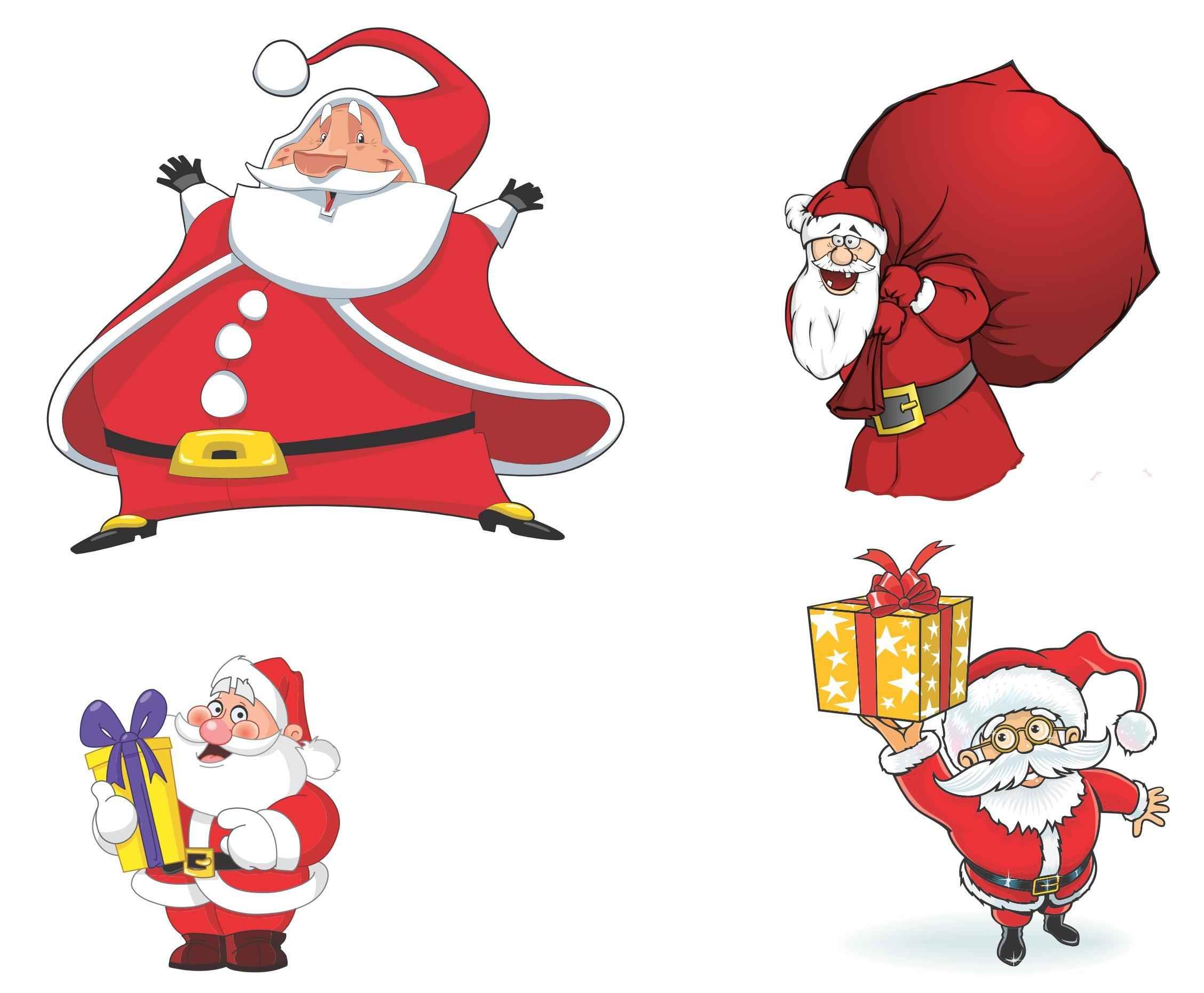 cartoon santa claus vector 01