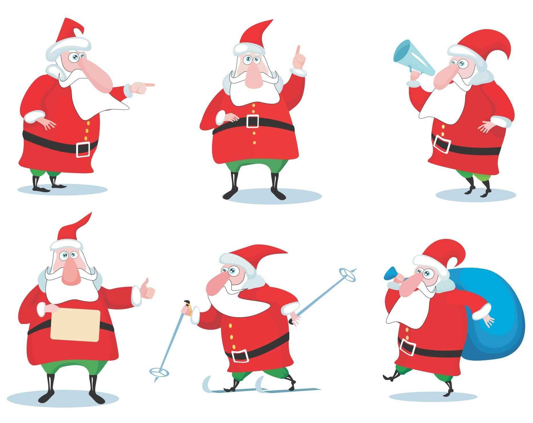 Cartoon Santa Claus Vector 02 [EPS File] png