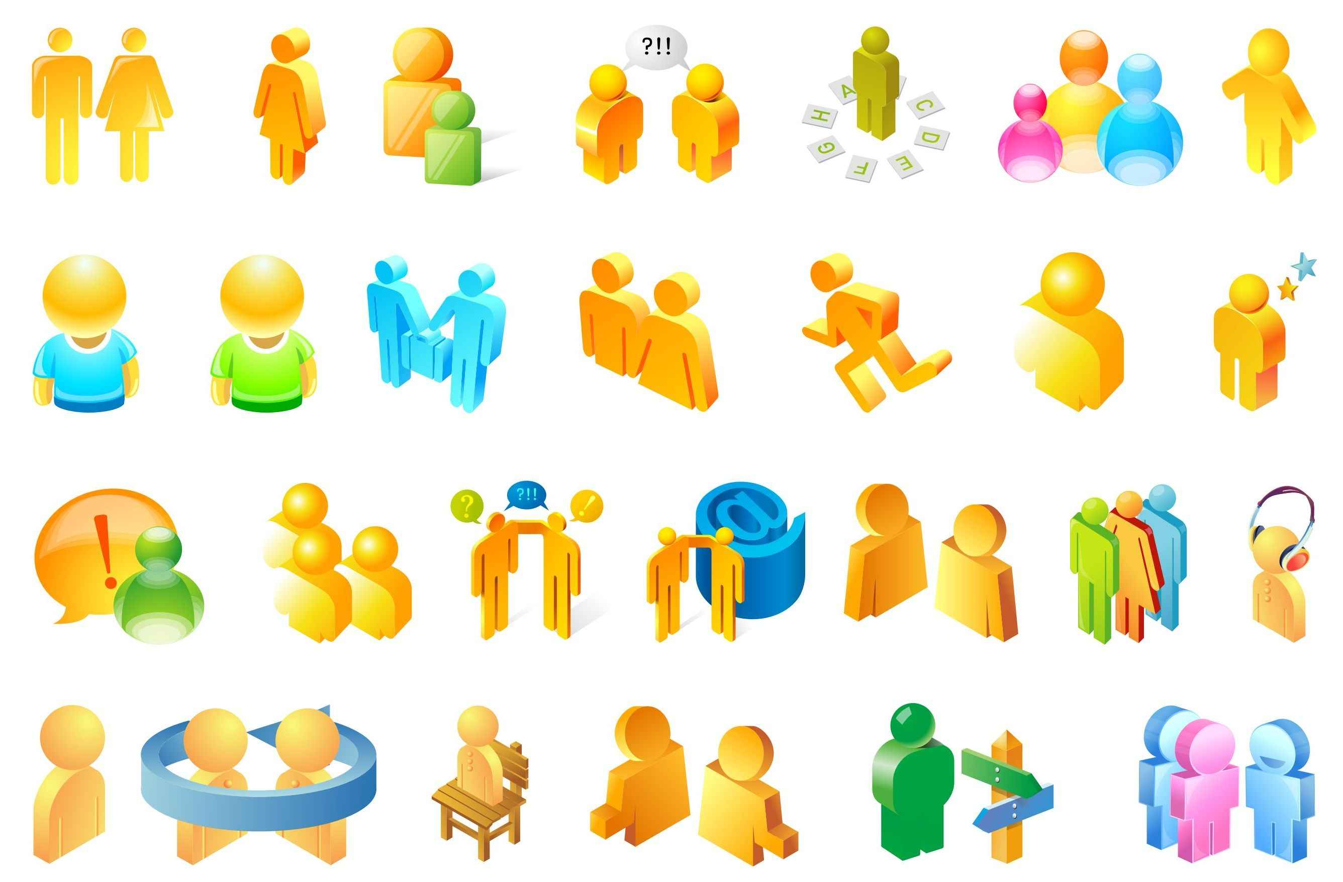 3D People Illustrator Vector png