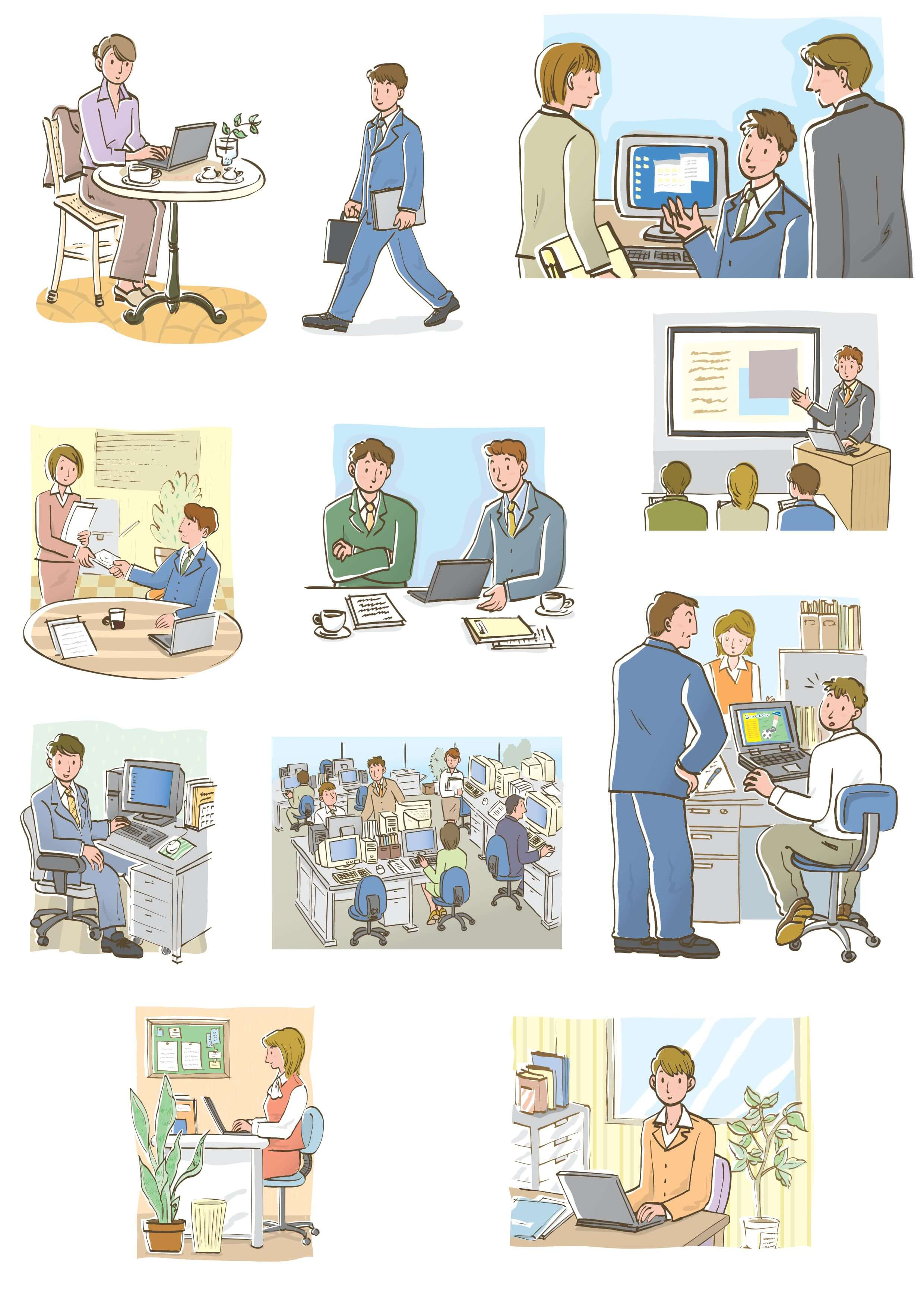 Business Illustrations [EPS File] png