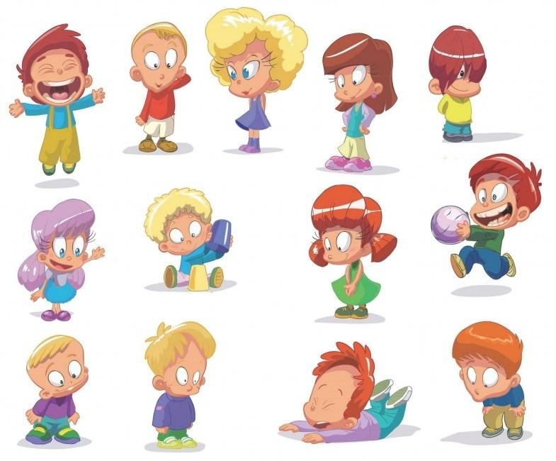 Cartoon Children, Kids, People 03 png