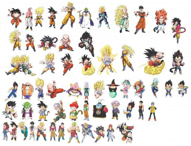 Dragon Ball Characters Vector png
