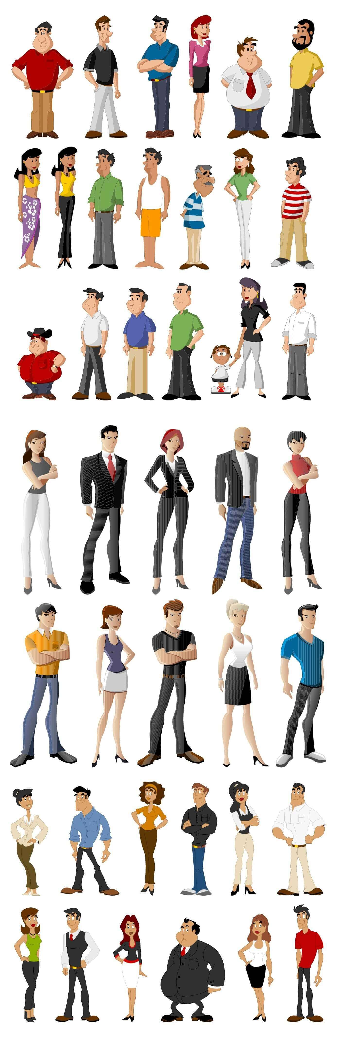 People Characters Illustrations [EPS File] png