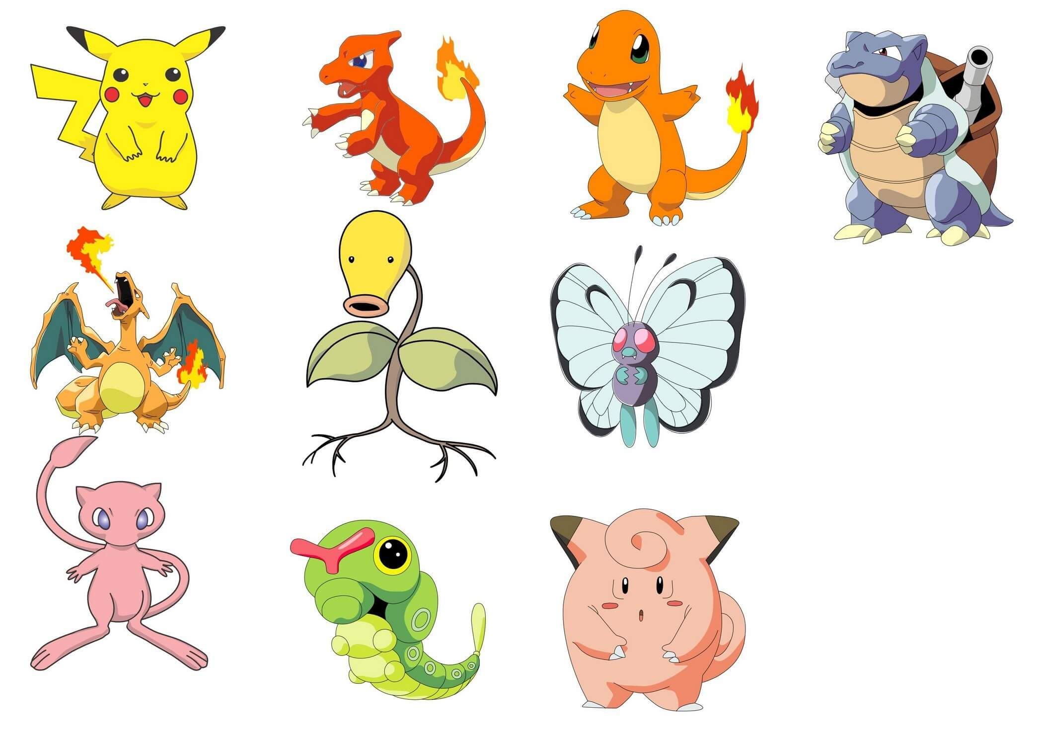 Pokemon characters vector png