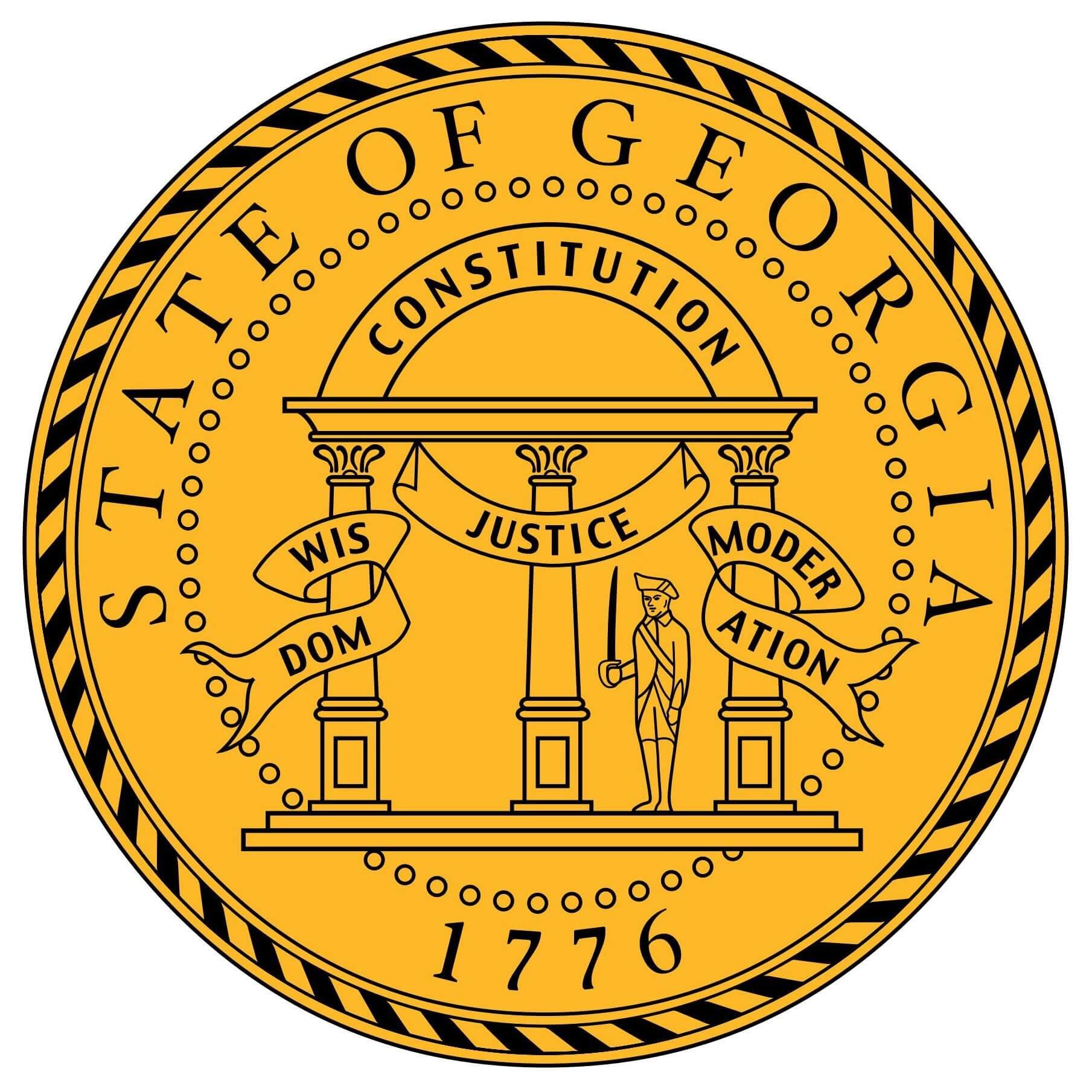 Georgia State Flag&Seal png