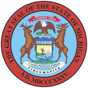 Michigan State Flag&Seal png
