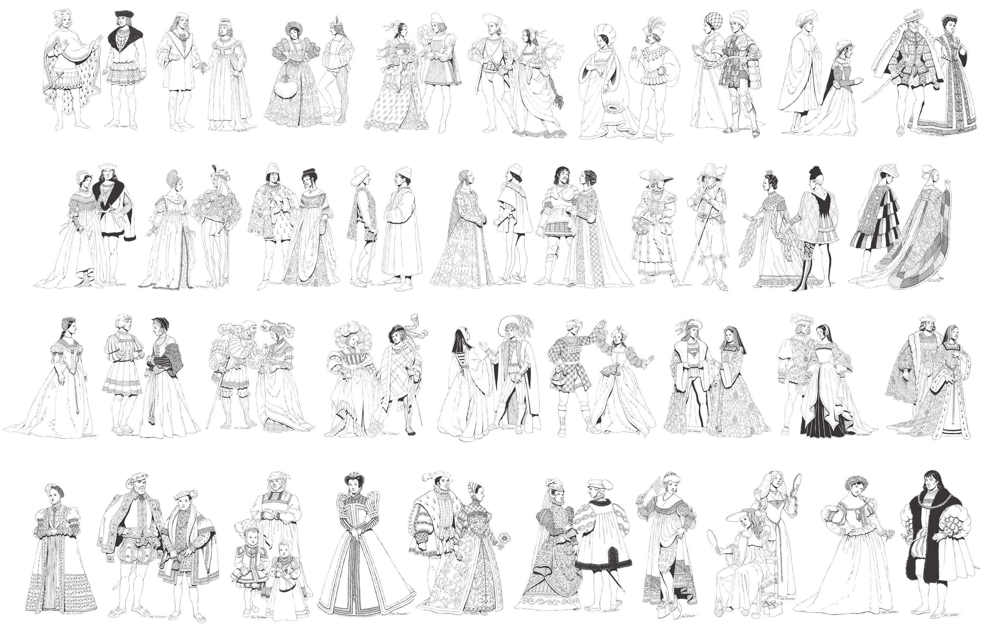 Traditional Renaissance Characters [EPS File] png