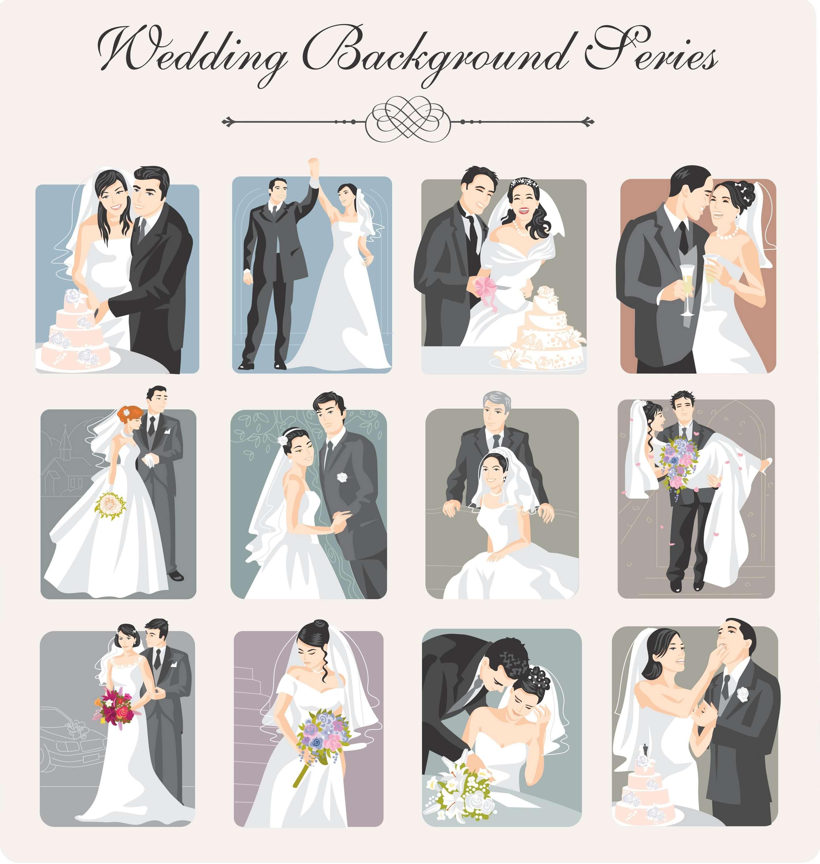 Wedding Backgrounds Illustrator 02 png