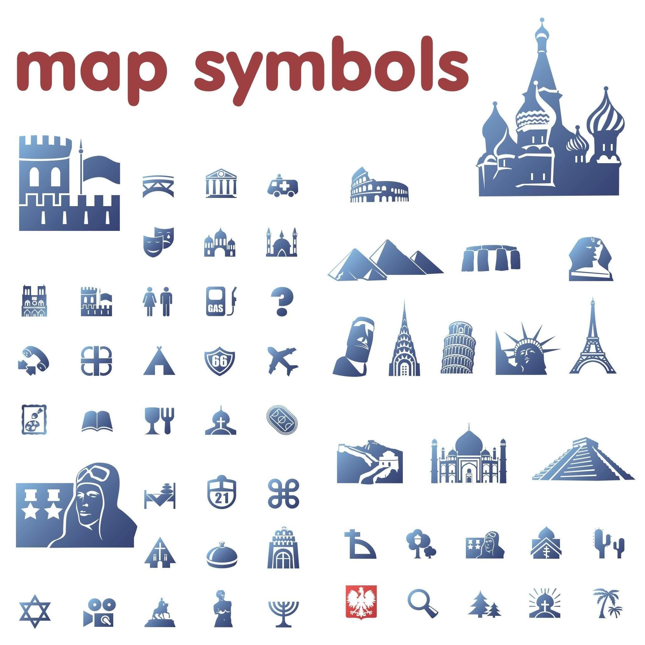 Blue Map Symbols png
