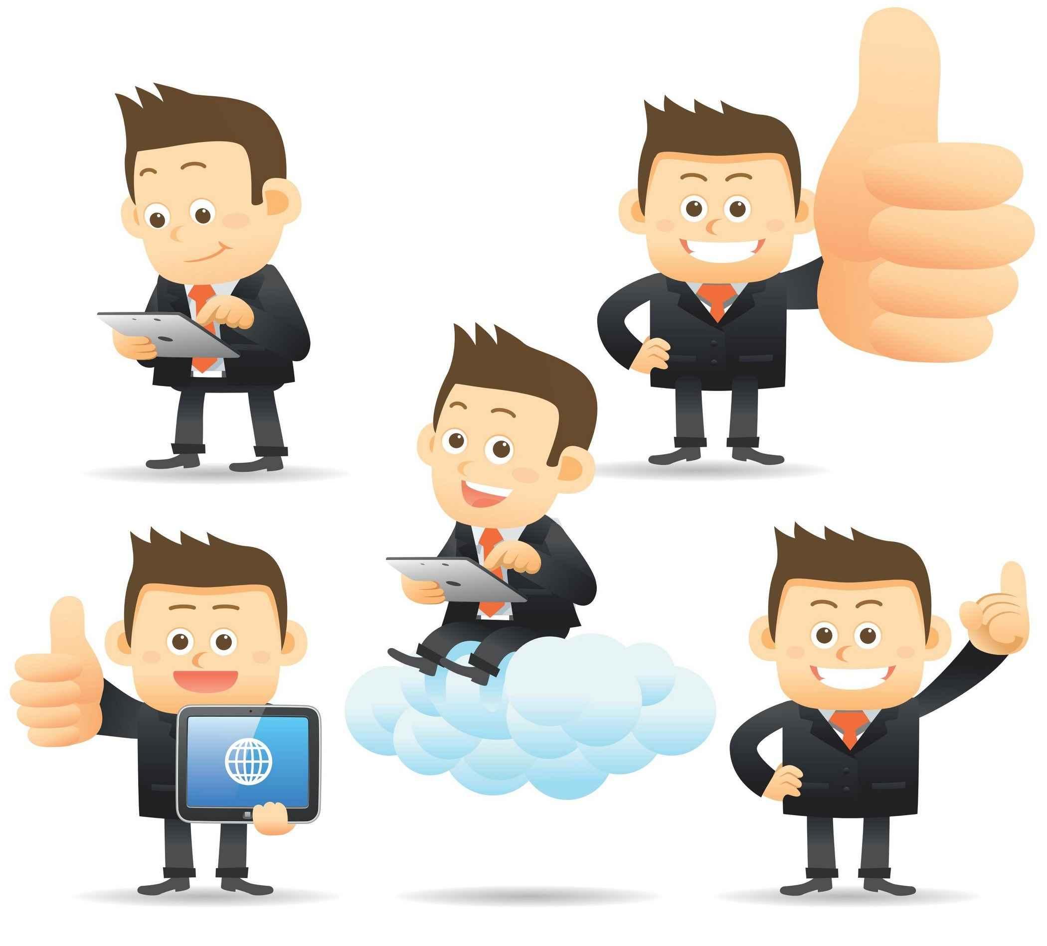 Cartoon Character Businessman png