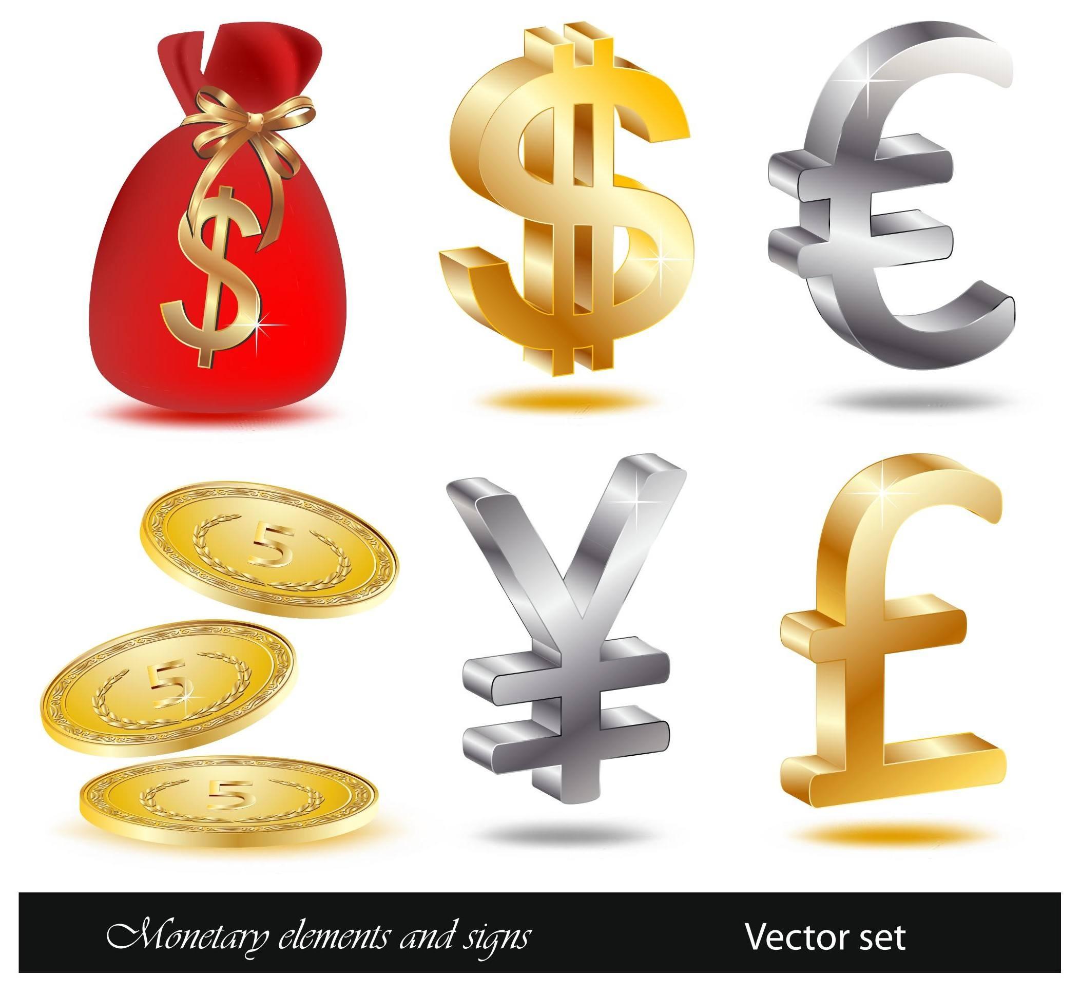 Financial icon vectors 01 png