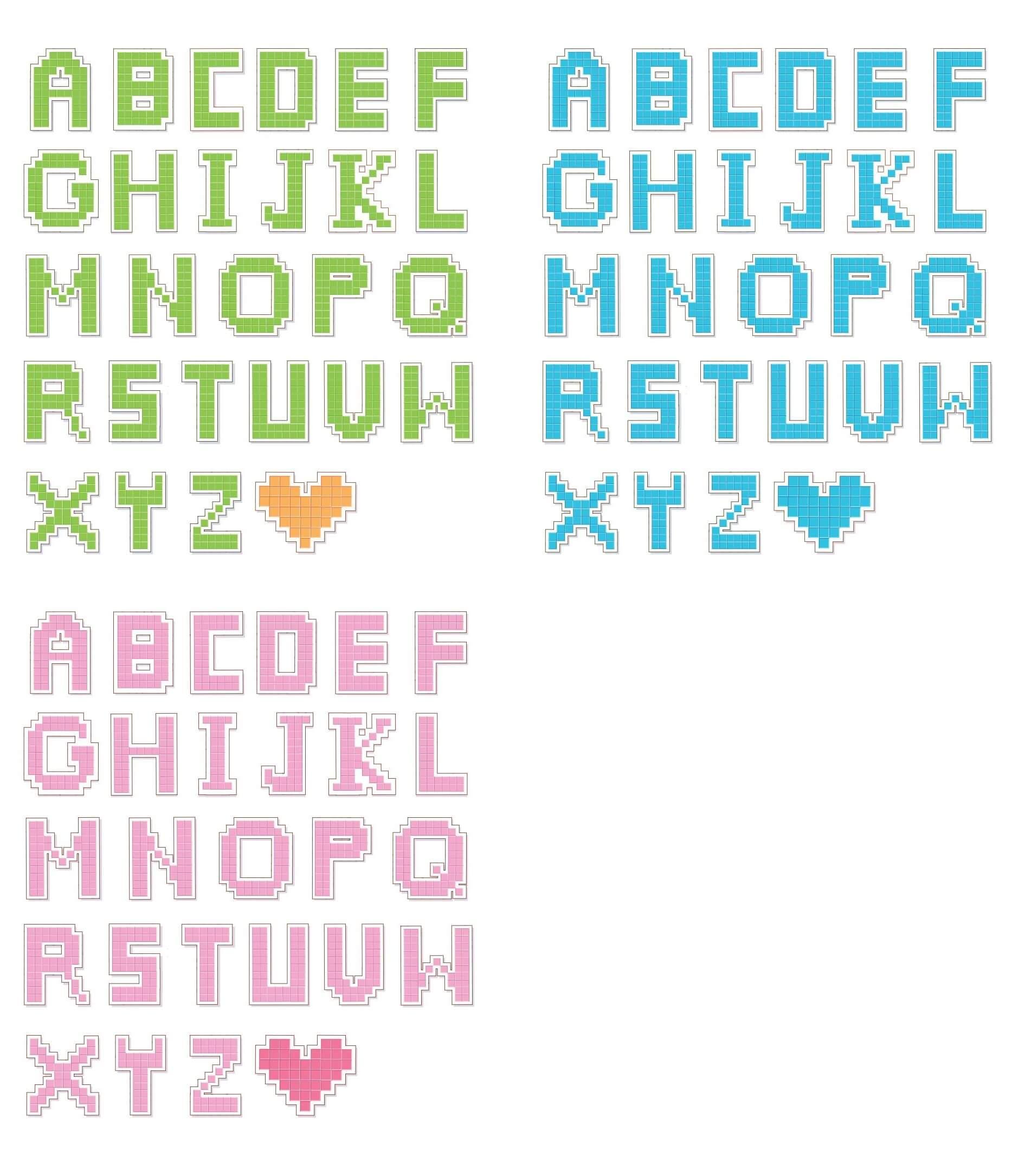 Pixel style Letters Vectors [EPS File] png