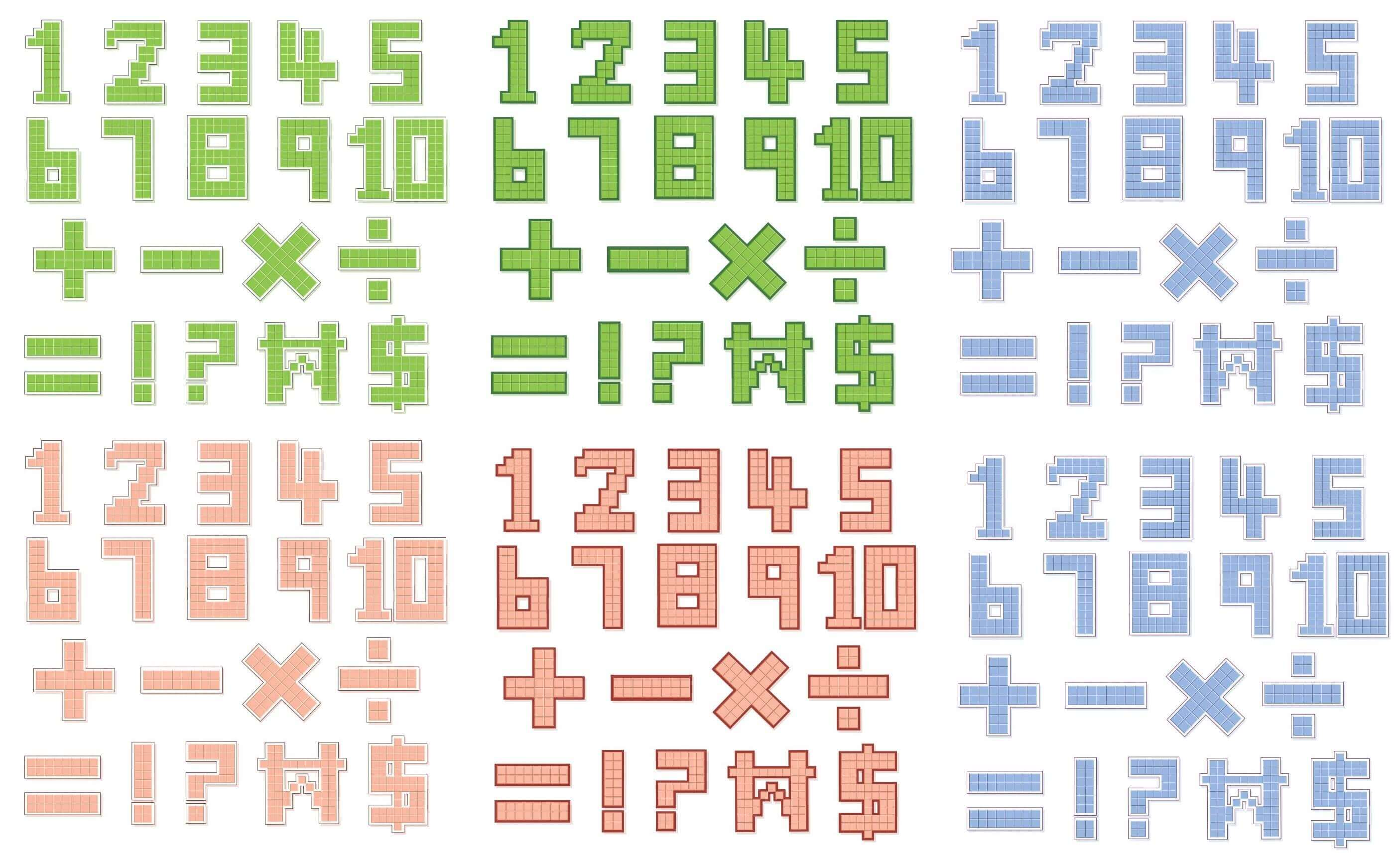 Pixel Style Numbers Vectors [EPS File] png